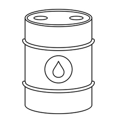 Oil barrel icon outline style vector image