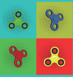 Pop art fidget spinner design vector