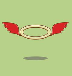 red angel wings vector image