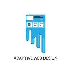Responsive web design abstract vector