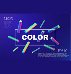 retro geonetric background neon vibrant color vector image