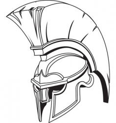 roman gladiator helmet vector image vector image