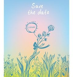 Save the date - wedding graphic invitation vector image