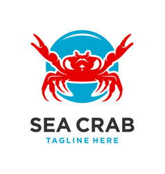 sea crab logo design template vector image