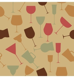 Seamless background pattern of retro alcoholic vector