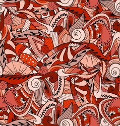 Seamless pattern background with abstract ornament vector