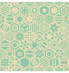 Seamless retro geometric pattern vector image