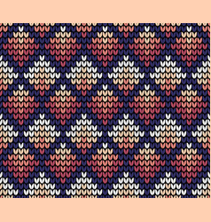 Seamless squares knitting background vector