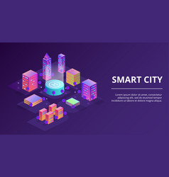 smart city infrastructure vector image