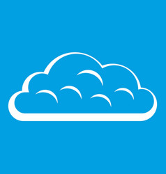 Snow cloud icon white vector