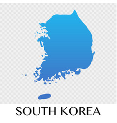 South korea map in asia continent design vector