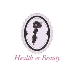 Spa beauty salon logo in a frame vector image