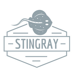 Stingray logo simple gray style vector