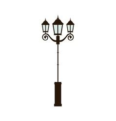 Street light lamp vector