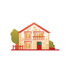 suburban private house front view vector image