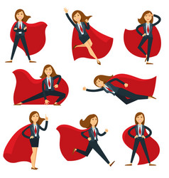 Superwoman or super woman office manager in vector