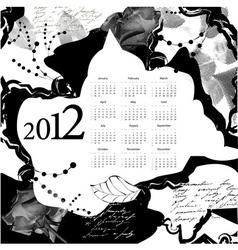 template for calendar 2012 vector image