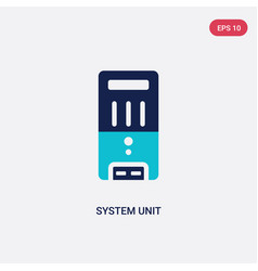 Two color system unit icon from hardware concept vector