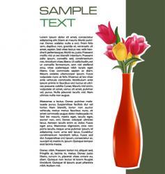 Vase brochure vector