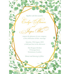 Wedding invitation holiday card certificate vector