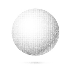 White 3D Sphere vector image