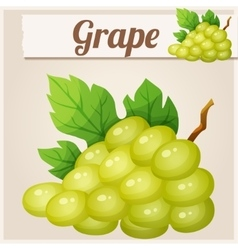 White grape Cartoon icon vector image
