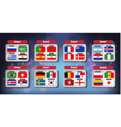 world football championship flags icons of the vector image