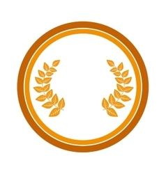 Wreath gold award icon vector
