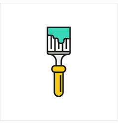 brush icon on white background vector image vector image