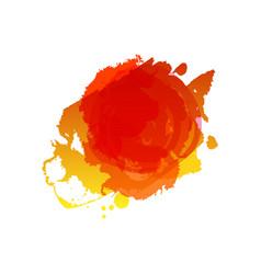 grunge summer red splash vector image