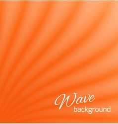 Orange abstract smooth light lines background vector image