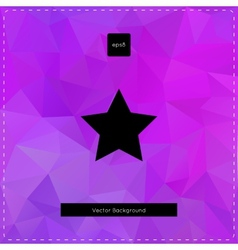 Abstract violet polygonal background vector image