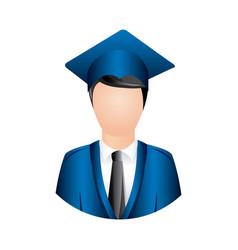 color man graduation icon vector image