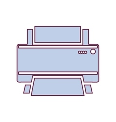 contour home printer in light purple color vector image