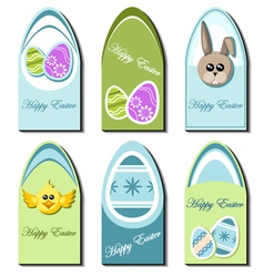 Easter card set vector image