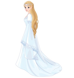 Fantasy Style Elf Princess vector image vector image