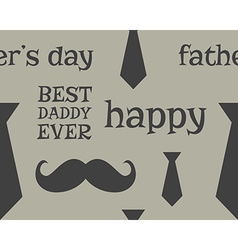 Father s day greeting seamless pattern template vector image