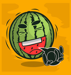 lol lots of laughs with laughing watermelon funny vector image vector image