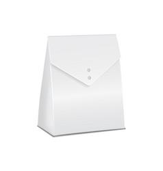 realistic white 3d model cardboard take away food vector image
