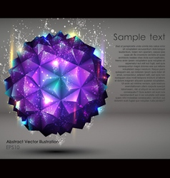 abstract geometric ball background vector image vector image