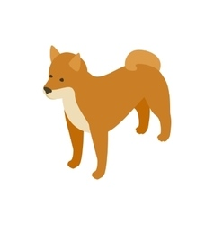 Akita dog icon isometric 3d style vector image vector image