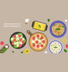 italian cuisine caesar salad vector image