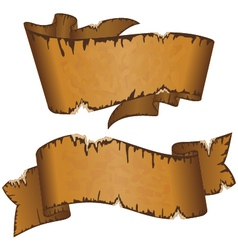 Old ribbon vector image vector image