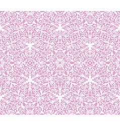 Seamless white floral lace pattern on pink vector image vector image