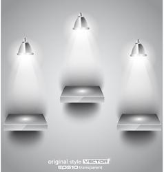 Shelf with spotlights vector image vector image