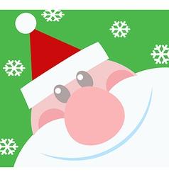 Smiling Santa Claus Head vector image