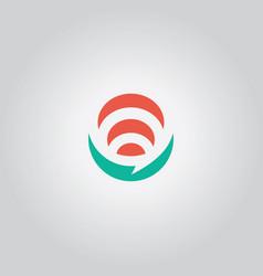 talk bubble logo abstract vector image