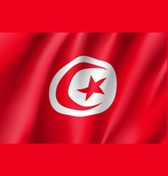 tunisia realistic flag vector image vector image