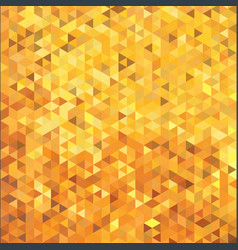 Abstract gold color triangle mosaic cube tile vector