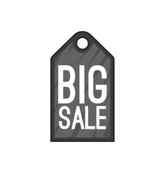 Big sale tag icon cartoon style vector image vector image